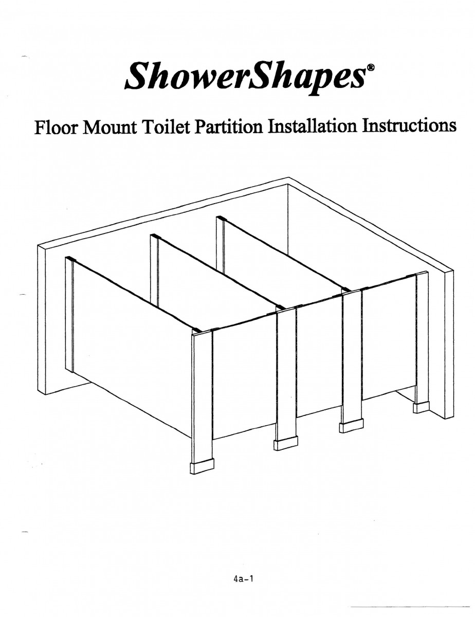 Installation Instructions Partitions Shower Shapes - Bathroom partition installation instructions
